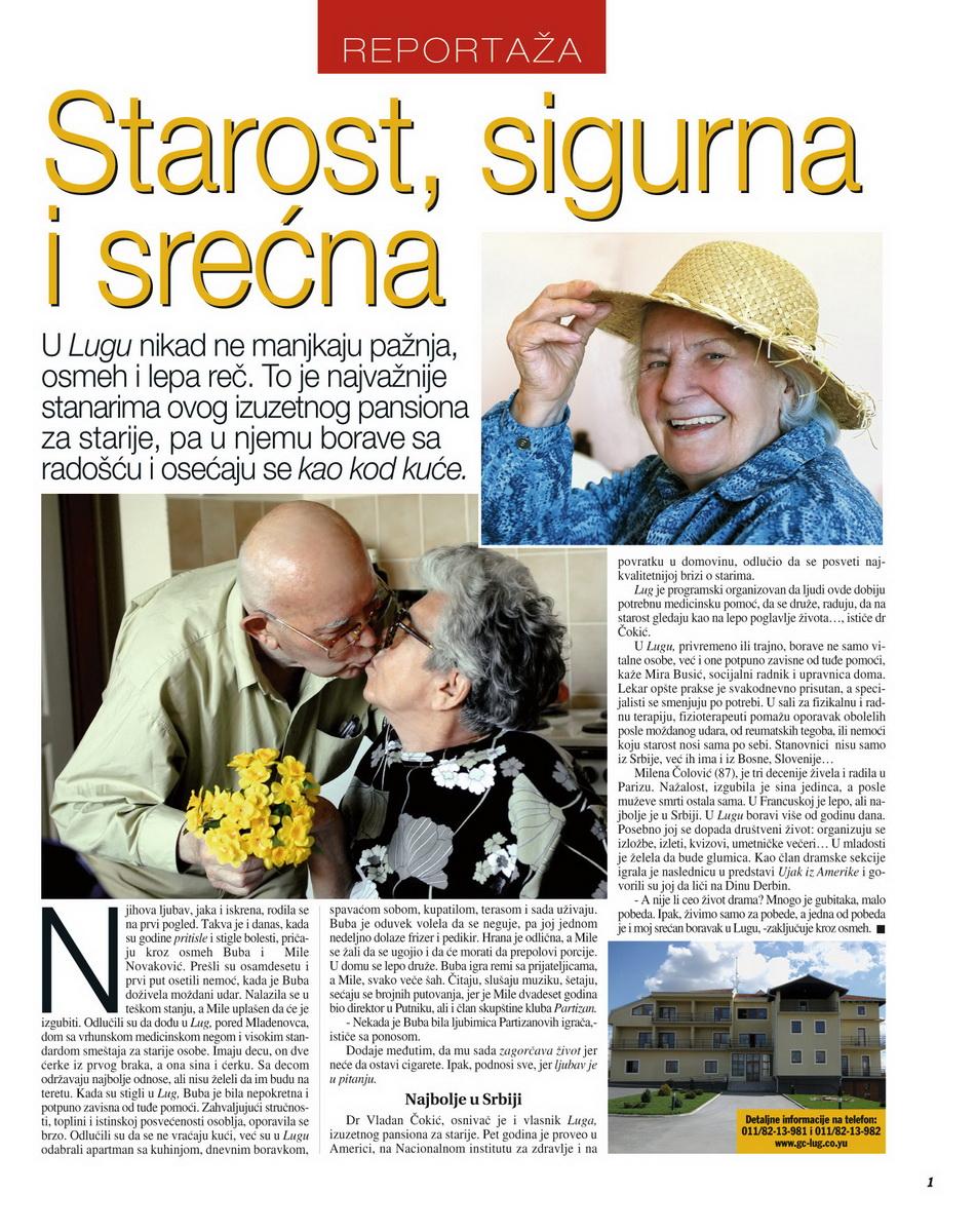 Starost sigurna i srecna - Casopis Glorija